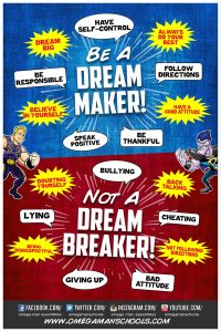 Be a Dream Maker Not a Breaker Inspirational Hero Posters.jpg